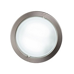 Litecraft - Round recessed Satin Chrome ceiling light