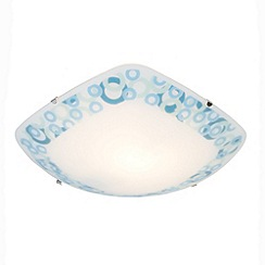 Litecraft - Gwynn 1 light flush Frosted glass ceiling light