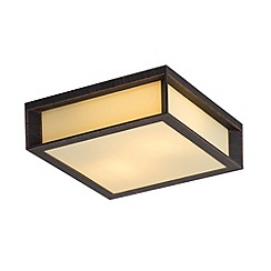 Litecraft - Orleans outdoor ceiling and wall lantern in rust Black