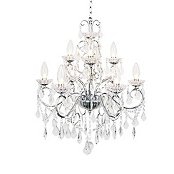 Litecraft - Vara 9 light bathroom chandelier in Chrome