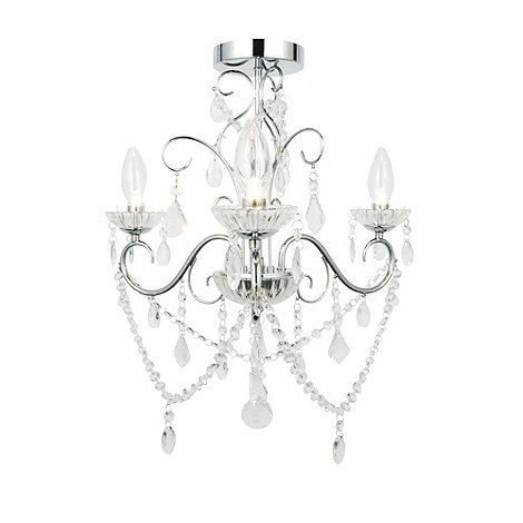 Litecraft - Vara 3 light bathroom chandelier in Chrome