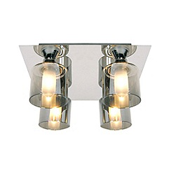 Litecraft - Tarum 4 light bathroom flush Chrome ceiling light