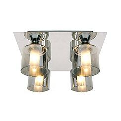 Litecraft - Tarum 4 light bathroom flush Chrome ceiling light