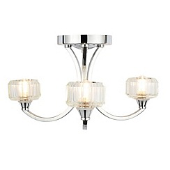 Litecraft - Ocean 3 Light Bathroom Ceiling Light - Chrome