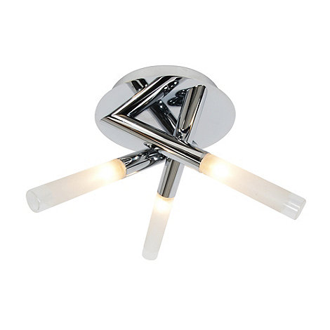 Litecraft - Cross 3 light bathroom semi flush Chrome ceiling light