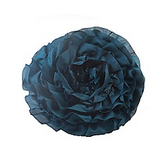 Litecraft - Venus round teal cushion