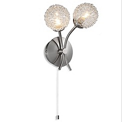 Litecraft - Allium 2 light Polished Chrome wall light