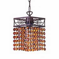 Litecraft - Flo Pendant Brushed Copper ceiling light