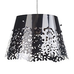 Litecraft - Freido floral cut-out Chrome pendant ceiling light