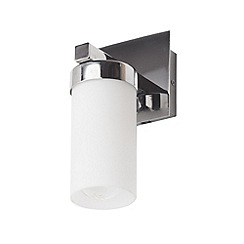 Litecraft - Aqua glass tube Chrome bathroom wall light -