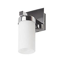 Litecraft - Aqua glass tube Chrome bathroom wall light -