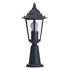 Litecraft - Outdoor 1 light Black pedestal lantern