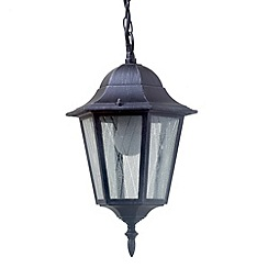 Litecraft - Outdoor 1 light hanging lantern in Black