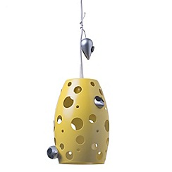 Litecraft - Childrens Cheese Ceiling Pendant Light - Yellow