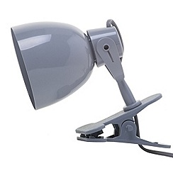 Litecraft - Timmy 1 light clip on Grey spotlight