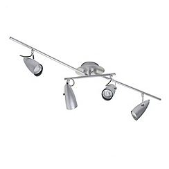 Litecraft - Grafias 4 Light  Satin Chrome adjustable ceiling spotlight bar