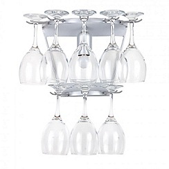 Litecraft - 2 tier Silver wine glass wall light