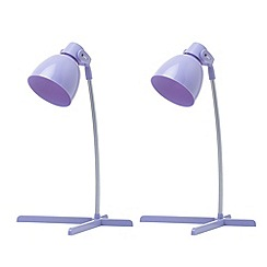 Litecraft - 2 pack of timmy 1 light Purple task lamp