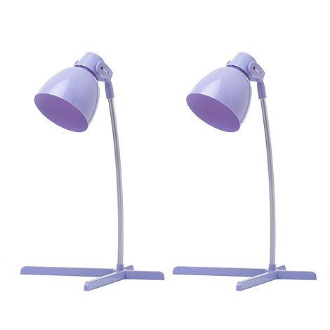 Litecraft - 2 pack of timmy 1 light Purple task lamp