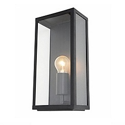 Litecraft - Mersey Outdoor Lantern Wall Light - Black