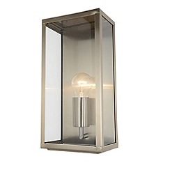Litecraft - Mersey Outdoor Lantern Wall Light - Stainless Steel
