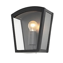 Litecraft - Hamble Outdoor Lantern Curved Wall Light - Black