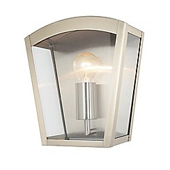 Litecraft - Hamble Outdoor Lantern Curved Wall Light - Stainless Steel
