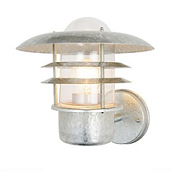 Litecraft - Lark Tiered Outdoor Wall Lantern - Galvanised Steel
