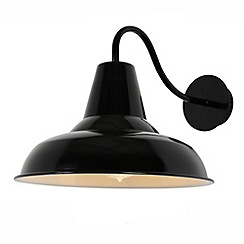 Litecraft - Tees Outdoor Spun Cowl Wall Light - Black