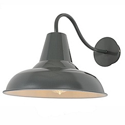 Litecraft - Tees Outdoor Spun Cowl Wall Light - Grey