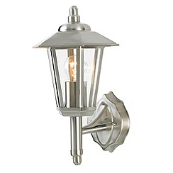 Litecraft - Ribble Outdoor Hexagonal Wall Light - Stainless Steel