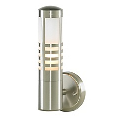 Litecraft - Delph Outdoor Slatted Wall Light - Stainless Steel