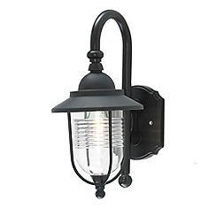 Litecraft - Ellen Outdoor Fishermans Style Wall Light - Black