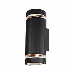 Litecraft - Holme Large Up & Down Light Outdoor Wall Light - Black