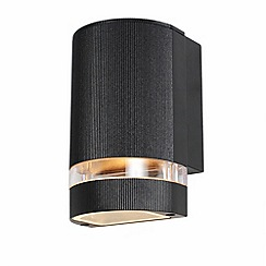 Litecraft - Holme Small Up or Down Light Outdoor Wall Light - Black