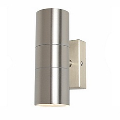 Litecraft - Kenn Up & Down Light Outdoor Wall Light - Satin Chrome