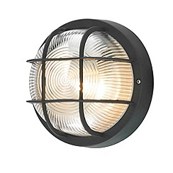 Litecraft - Mole Round Bulkhead Outdoor Wall Light - Black