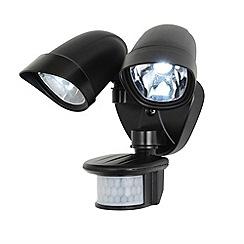 Litecraft - Lune LED Twinspot PIR Security Wall Light