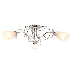 Litecraft - Callie 3 light semi flush Chrome with led bulbsceiling light