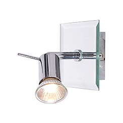 Litecraft - Mirrored Glass Single Spotlight With LED Bulbs