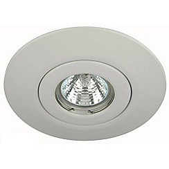 Litecraft - Brushed White Recessed Downlight Conversion Kit With LED Bulbs