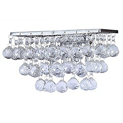 Litecraft - Galaxy K9 Crystal Chrome Wall Light With LED Bulbs