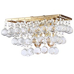 Litecraft - Galaxy K9 Crystal Gold Wall Light With LED Bulbs