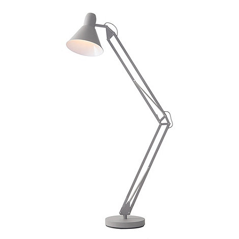 Litecraft - New Task Floor Lamp - Grey With LED Bulbs