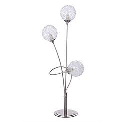 Litecraft - Allium 3 light table lamp in Satin Chrome with led bulbs