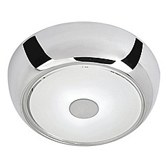 Litecraft - Allesa Small Flush Bathroom Ceiling Light - Chrome With LED Bulbs