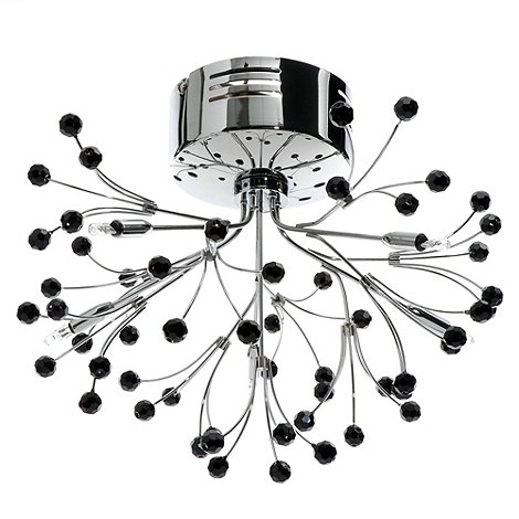 Litecraft - Coral 5 Light Semi Flush Ceiling Light With Wavy Arms ¦ Chrome