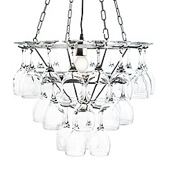 Litecraft - 3 Tier  Silver wine glass chandelier