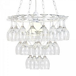 Litecraft - 3 Tier Wine Glass Chandelier - White