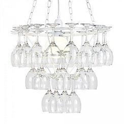 Litecraft - 3 Tier Wine Glass Chandelier - White